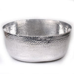 Hammered Aluminum Party Tub - 18.25 x 14 x 8.5 inches - Jodhshop