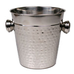 Wine Chiller Stainless Steel Hammered - 8 x 8.5 inches - Jodhshop