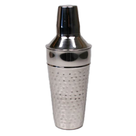 Hammered Stainless Steel Cocktail Shaker - 28 oz - Jodhshop
