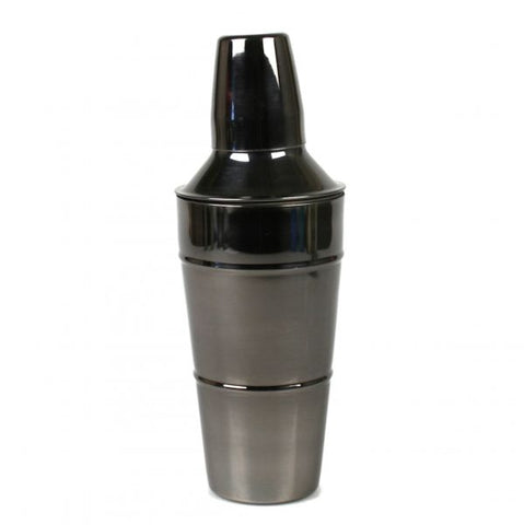 Stainless Steel Cocktail Shaker with Black Nickel Finish - 28 oz - Jodhpuri Online