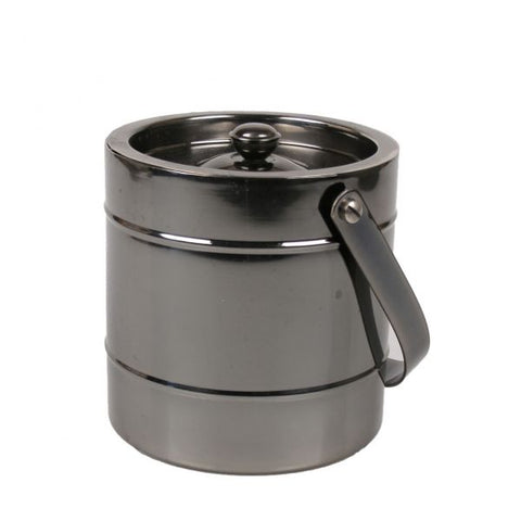 Stainless Steel Ice Bucket with Black Nickel Finish - 2 Liter Capacity - Jodhshop