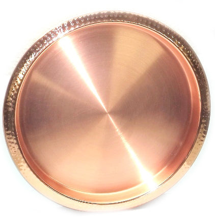 Hammered Copper Bar Tray - 15.7 x 15.7 inches - Jodhpuri Online