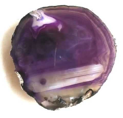 Plum Agate Platter with Silver Foil - 6 to 8 - Jodhshop