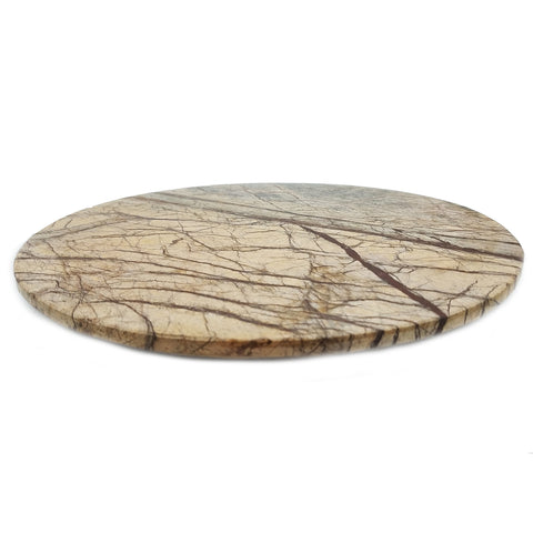 Brown Forest Marble Lazy Susan - 12 x 12 inches - Jodhshop