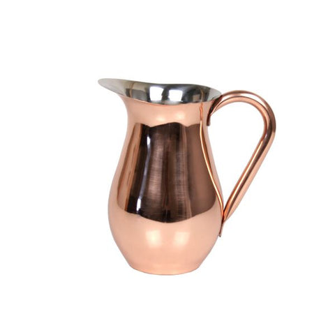 Copper Belly Pitcher with Shiny Finish - 96 oz - Jodhshop