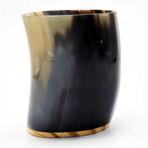 Natural Horn Black/Amber Marble Cup - 12 oz - Jodhshop