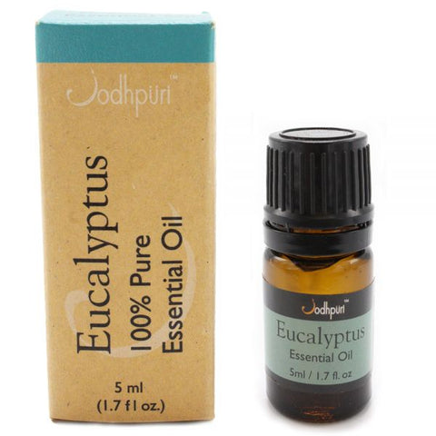 100% Pure Essential Oils Eucalyptus (5mL) - Jodhshop