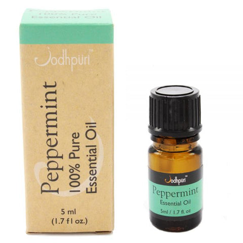 100% Pure Essential Oils Peppermint (5mL) - Jodhshop