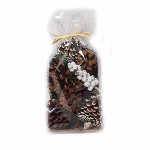 Frosted and Natural Pine Cone Mix - 8 ounces - Jodhshop