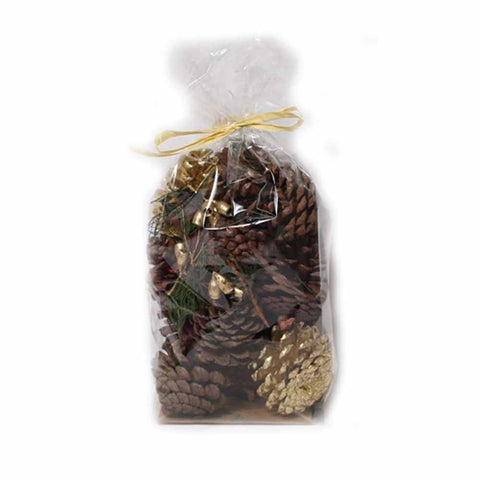 Gold and Natural Pine Cones - 8 oz - Jodhshop