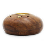 Incense Stick and Cone Holder - Wood with Stars - Jodhshop