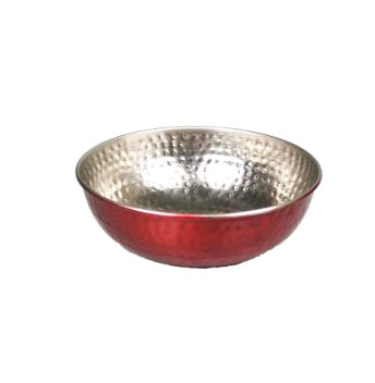 Red Stainless Steel Serving Bowl - 10 inches - Jodhshop