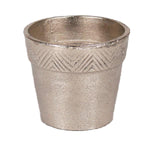Silver Aluminum Pot with Chevron Border | Large - Jodhshop