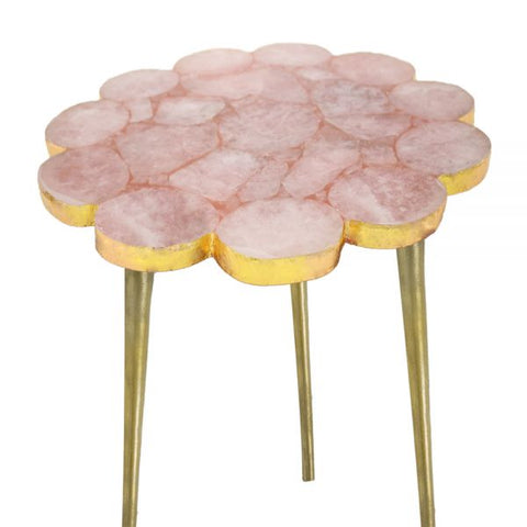 Rose Quartz Table - 16 x 21 inches - Jodhshop