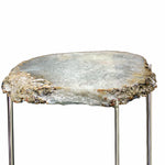 Natural White Quartz Geode Table - 16 x 21 inches - Jodhshop