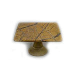 Brown Forest Marble Cake Stand - 10 x 5 x 10 inches - Jodhshop