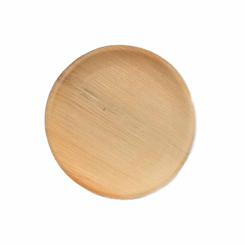 Disposable Areca Leaf Round Plate - 25/Pack - Jodhshop
