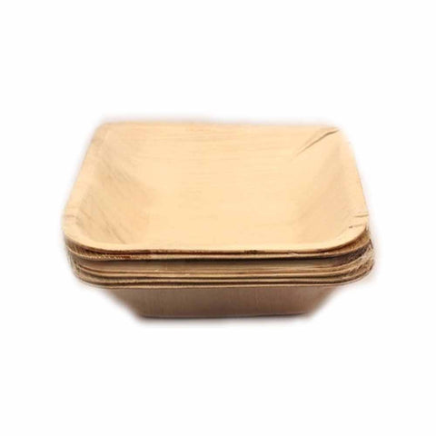 Areca Leaf Square 7 inch Bowl - 25/Pack - Jodhshop