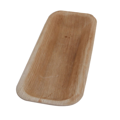 Areca Leaf Rectangular 10 inch Serving Bowl Bowl - 25/Pack - Jodhshop