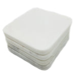 50003: White Marble Square Coasters - Set of 4 - Jodhshop