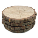 50790: Natural Wood Coasters with Bark Edge - Set of 4 - Jodhshop