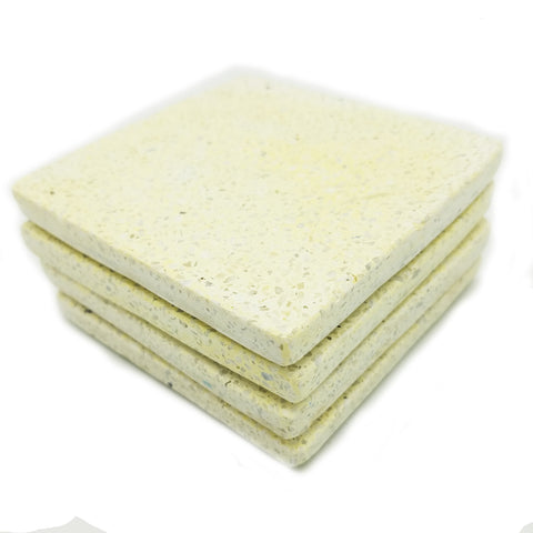Terrazzo Coaster Set - Golden Yellow with White Chips - Jodhshop