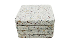 53323: Terrazzo Stone with Multi Chips Square Coaster - Set of 4 - Jodhshop