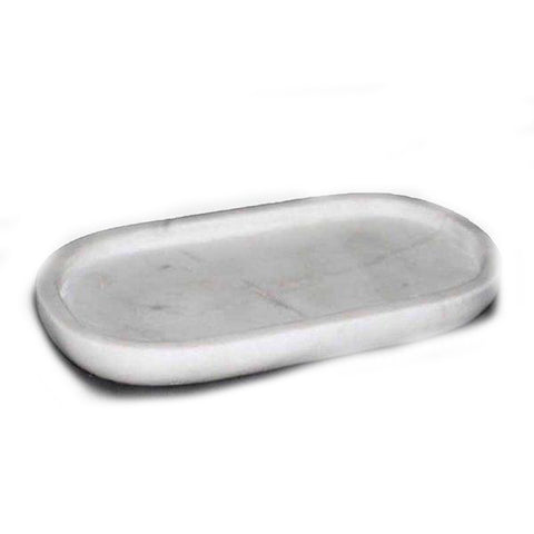 Oval Marble Tray - 14 x 7 x 1 inches - Jodhshop