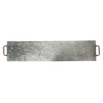 Galvanized Banquet Board with Copper Handles - 39 x 8 inches - Jodhshop