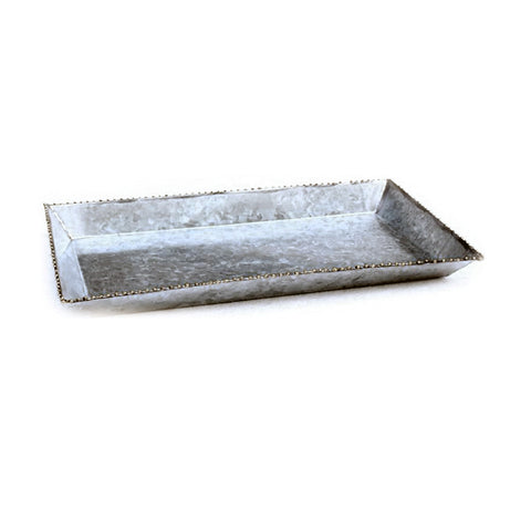 Small Galvanized Rectangle Tray - 9 x 5 inches - Jodhshop