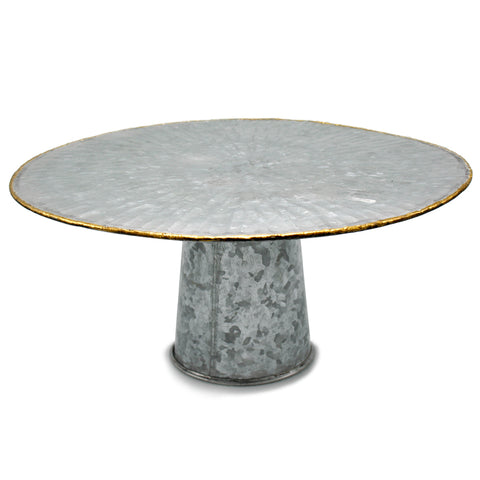 Galvanized Sunburst Cake Stand - 13.5 x 6.75 inches - Jodhshop
