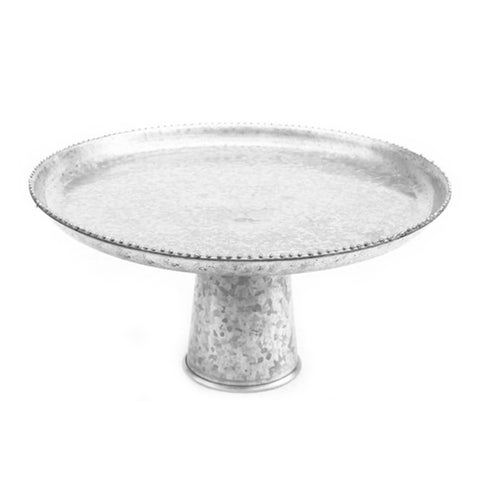 Galvanized Cake Stand - 15.75 x 7 inches - Jodhshop