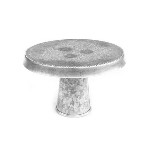Galvanized Downward Lip Cake Stand - 12 x 7.5 inches - Jodhshop