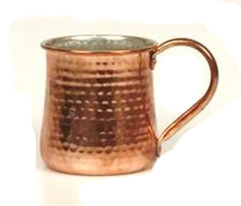Hammered Taper Moscow Mule Mug with Copper Finish - 16 oz - Jodhpuri Online