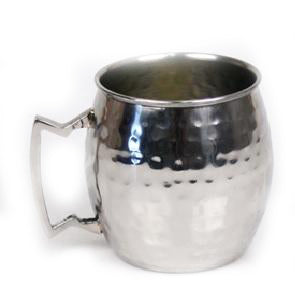 Hammered Stainless Steel Moscow Mule Mug - 16 oz - Jodhshop