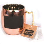 Pure Copper Moscow Mule Mug with Chalk Board Front - 16 oz - Jodhshop