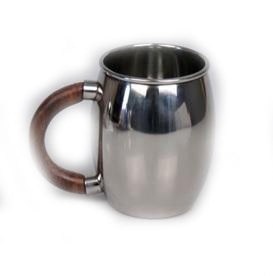Stainless Steel Moscow Mule Mug with Wooden Handle - 20 oz - Jodhpuri Online