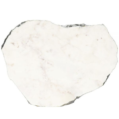 White Marble Platter Irregular Edge with Silver Foil - 8 to 10 inches - Jodhshop