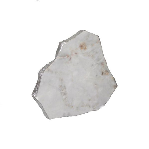 White Marble Platter Irregular Edge with Silver Foil - 6 to 8 inches - Jodhshop