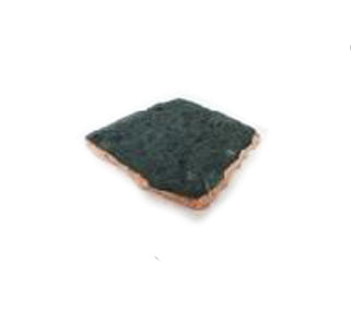 Green Marble Organic Edge Slice with Copper Foil - 6 to 8 inches - Jodhshop