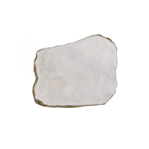 White Marble Platter Irregular Edge with Gold Foil - 10 to 13 inches - Jodhshop