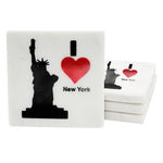 65250: Marble Screen Printed Coasters - I Love New York - Jodhshop