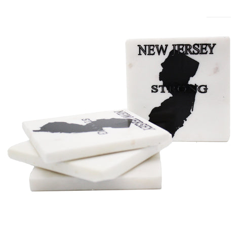 65251: Marble Screen Printed Jersey Strong Coasters - 4/pack - Jodhshop
