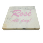 65286: Marble Screen Printed Coasters - Rose All Day! - Jodhshop
