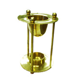 Brass Pedestal Oil Burner - Jodhshop