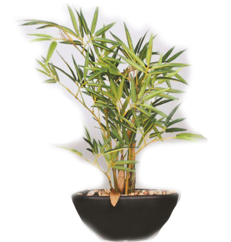 Bamboo Artificial Plant in Ceramic Pot - 15 inches - Jodhpuri Online