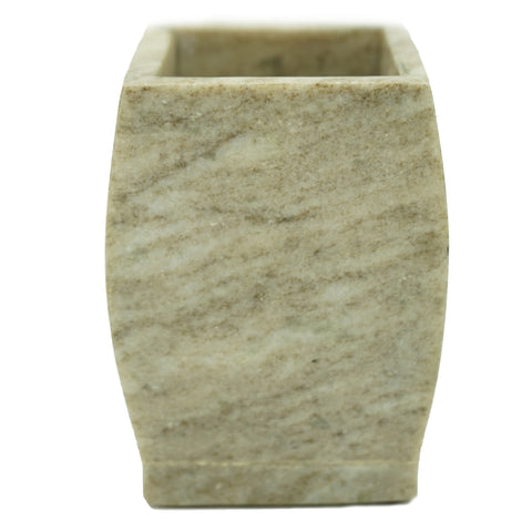 Vogue Marble Bathroom Tumbler - 2.8 x 2.8 x 4 inches