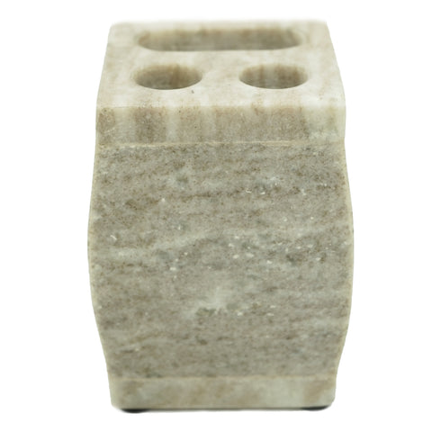 Vogue Marble Toothbrush Holder - 3 x 3 x 4 inches - Jodhshop
