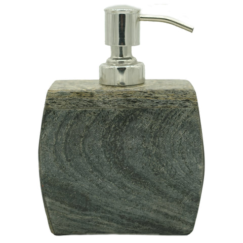 Marble Soap Dispenser with Dover Slate Finish - 4.25 x 2.25 x 4 inches - Jodhshop