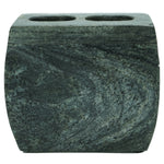 Marble Toothbrush Holder with Dover Slate Finish - 4.5 x 2.5 x 4 inches - Jodhshop